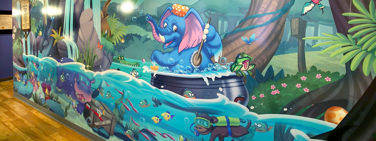 Wall mural for Pediatric Dentist Dr. Sean Vostatek